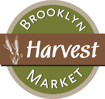 A theme footer logo of Brooklyn Harvest Markets